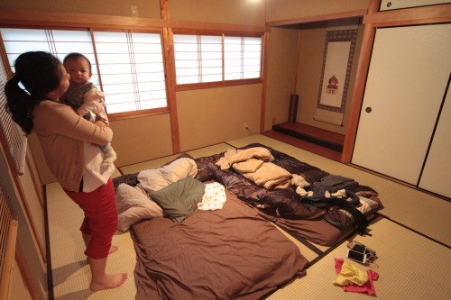 Tatami style accommodation in Keihoku